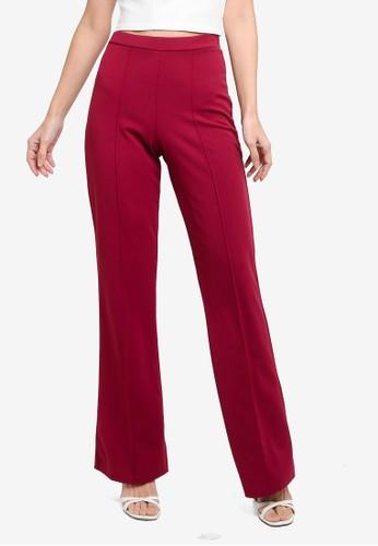 Quiz purple Plum Scuba Fit & Flare Trousers DD919AA6D36C4DGS_1