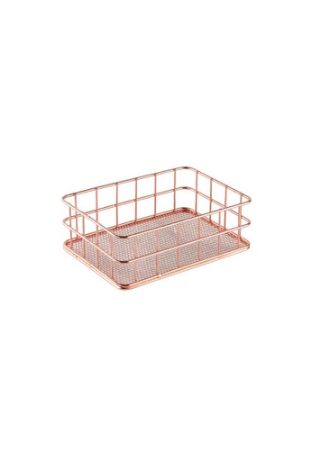 DILAS HOME pink Small Metallic Basket (Rose Gold) 7A5C2HL5C887CAGS_1
