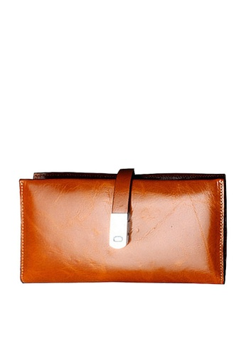 Twenty Eight Shoes brown VANSA Top Layer Cowhide Bi-Fold Long Wallet VBU-Wt1240 ECAA8AC80F5814GS_1