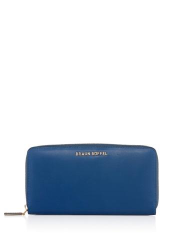 Braun Buffel blue Lynda Zip Long Wallet 74F8DAC1A8F42DGS_1