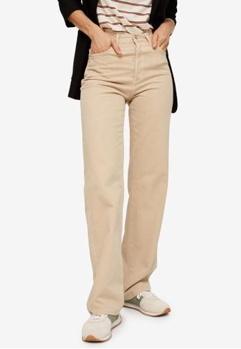 Mango beige High Waist Straight Jeans 54C87AAEAC9936GS_1
