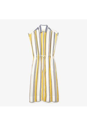 Lacoste Lacoste Women's Striped Long Flowy Shirt Dress BE685AA0A9228CGS_1