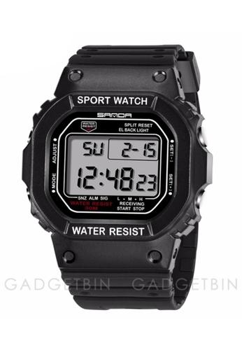 SANDA white SANDA 329 Classic C Style Waterproof Outdoor Sports Men Shockproof Digital Watch (White Black) SA708AC0RXFTMY_1