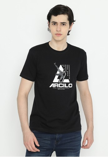 Arcilo black T-shirt Gun Eine 3465FAAF8016C6GS_1