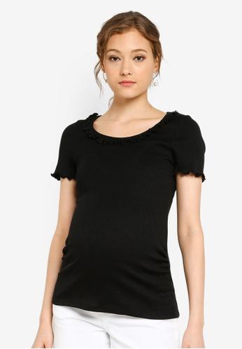 a968540749 Dorothy Perkins black Maternity Black Frill Top 14773AA16CF851GS_1