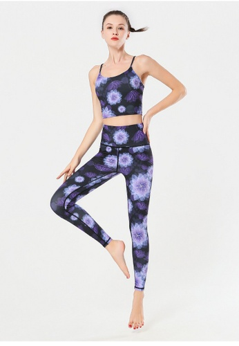 B-Code purple ZYG3009-Lady Quick Drying Running Fitness Yoga Sports Top -Purple AB476AA52D980FGS_1