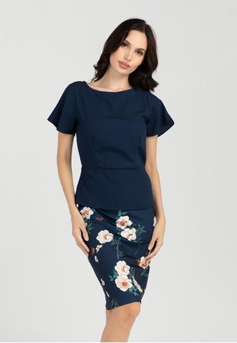 BA&DO blue Samyl Twofer Dress 352E3AA08C4AAEGS_1