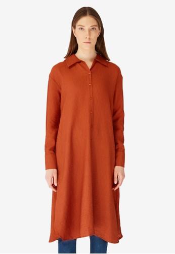 Trendyol brown Tunic Shirt 75DB6AA75A8E9DGS_1