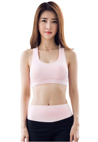 YG Fitness pink Sexy Quick-Drying Running Fitness Yoga Bra 6C08FUSA7CFA8DGS_1