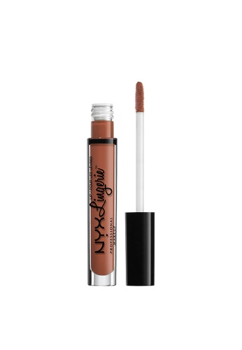 NYX Professional Makeup brown NYX Professional Makeup Lip Lingerie Liquid Lipstick - SEDUCTION AC679BEEE8D52BGS_1