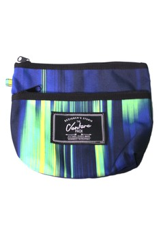 Dark Stripe Travel Pouch