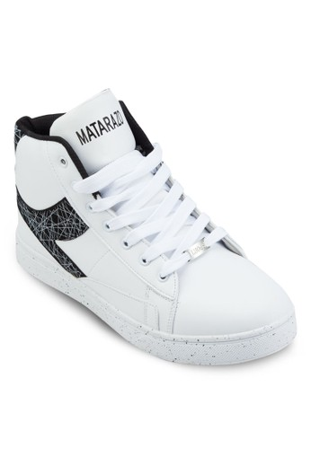印花esprit 內衣拼接高筒運動鞋, 鞋, 鞋
