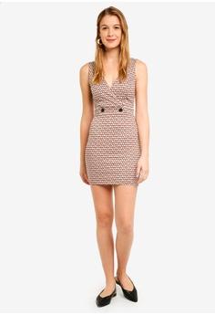 dac7b1160786 60% OFF Miss Selfridge Rust Tile V-Neck Pinny Dress S  69.90 NOW S  27.90  Sizes 12 14