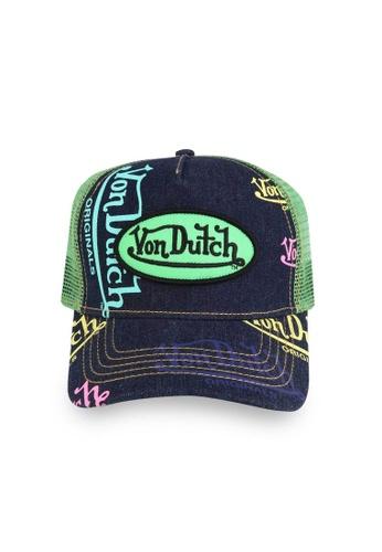 Von Dutch blue Von Dutch Denim Blue Logo Trucker Cap 28FFEAC2DEA0BBGS_1
