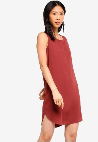 ZALORA BASICS pink Basic Sleeveless Shift Dress 215B9AA4C2E1E8GS_1