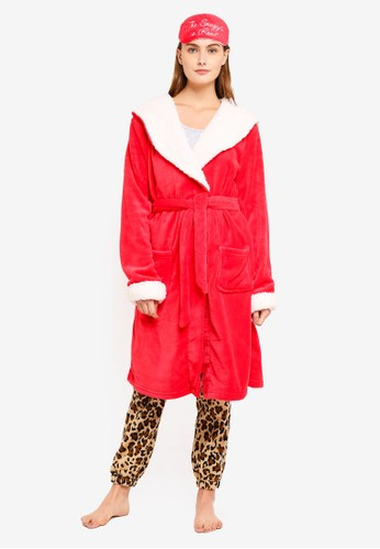Chelsea Peers red The Snuggle Is Real Dressing Robe A7AC6AAEB95608GS_1
