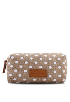cea0332735d Violeta by MANGO beige Polka-Dot Print Cosmetic Bag D704BAC23D051FGS 1