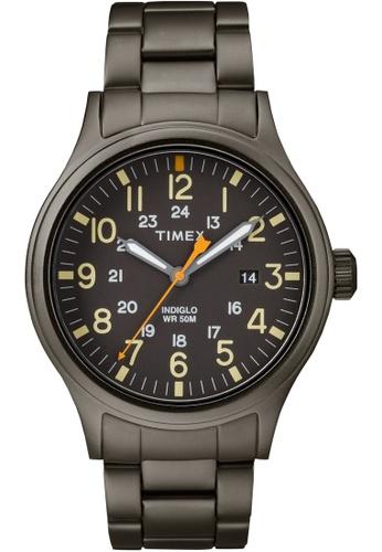TIMEX grey Timex Allied 40 - Gray Bracelet, Black Dial (TW2R46800) TI857AC0FOYESG_1