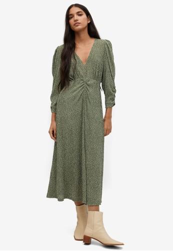 Mango green Midi Printed Dress 8E0EFAA04A7337GS_1