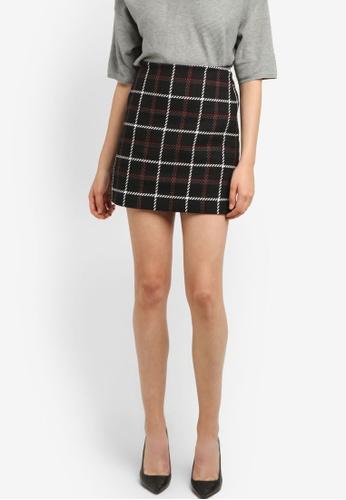 WAREHOUSE multi Check Pelmet Skirt WA653AA0RSPTMY_1