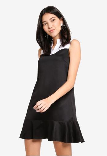 ZALORA black and multi Flare Hem Dress 34FD3AA90C88F9GS_1