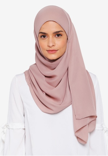 Lubna brown Basic Shawl 6FBBEAA395FF8AGS_1