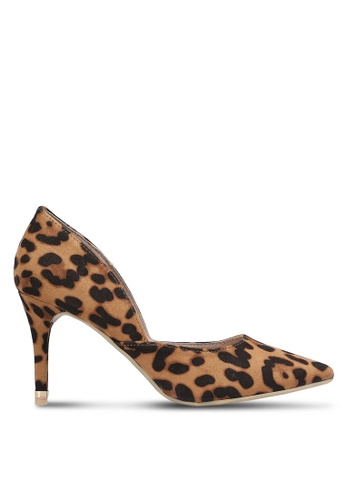 Dorothy Perkins brown and multi Leopard Eliza D'orsay Court Heels DO816SH0RJQZMY_1