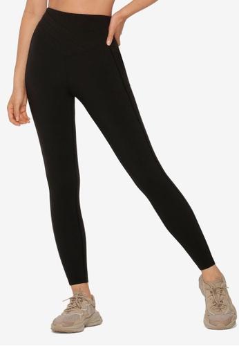 Lorna Jane black Tuck Front Pocket Full Length Leggings A301AAA2744EDAGS_1