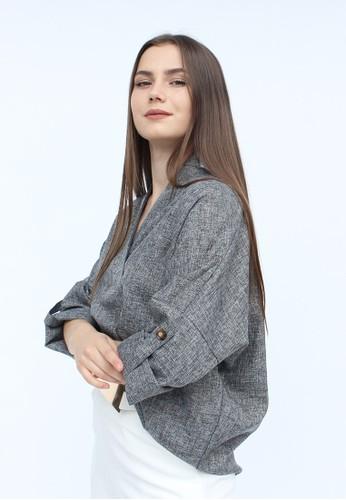 MAGNOLIA grey Long Vivi Shirt EE6E2AAEA51B70GS_1