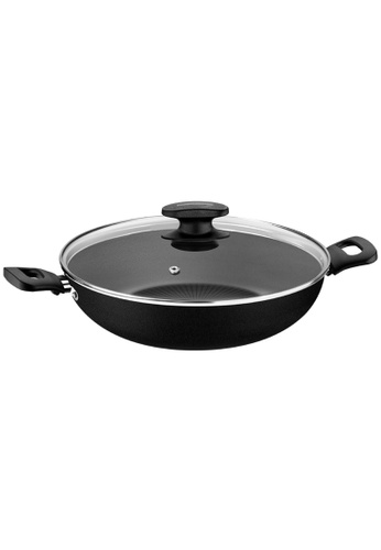 Tramontina red Tramontina Non-stick Wok with Tempered glass lid Loreto D5E8AHL7752FBEGS_1