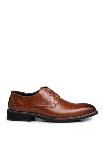 Twenty Eight Shoes 褐色 超纖皮英倫風沖花牛津鞋  VM2538 738F4SH3101839GS_1