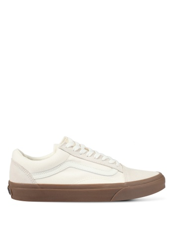 VANS white and brown Old Skool Suede and Canvas Sneakers VA142SH0SX3JMY_1