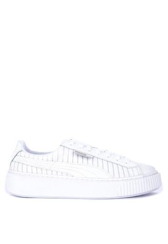 Puma white Basket Platform En Pointe Women s Sneakers 913B6SHD6B586CGS 1 e487380a4d