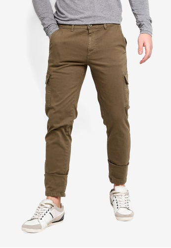 f06d948ba049d Buy OVS Slim Fit Stretch Cargo Trousers Online on ZALORA Singapore