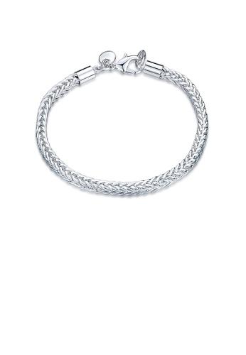 Glamorousky silver Fashion Simple Round Bracelet A300FAC28E21A1GS_1