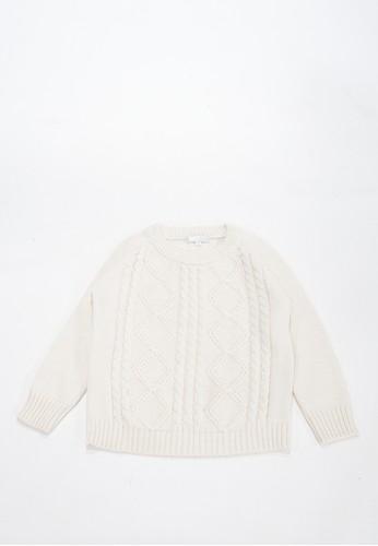 Cribcot white Sweater Cable Argyle BW 67079KAA5E2C0AGS_1