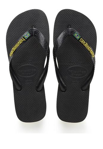 Havaianas black Brasil Layers Flip Flops 163D8SH1B67339GS_1