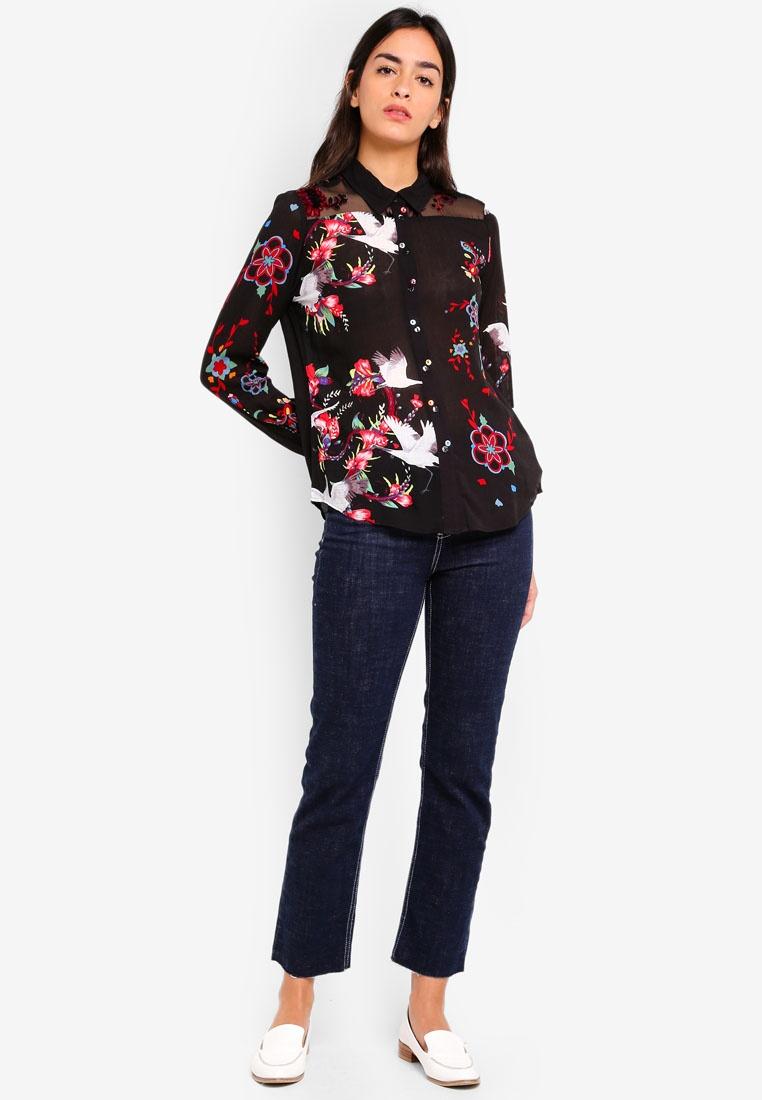 Desigual Shirt Magnolia Desigual Magnolia Shirt Negro Negro Desigual Swx7H6rSq