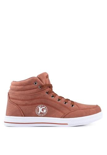 Rocklander brown Matarazo Hi-Top Sneakers C2916SH78F510BGS_1