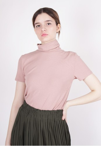 MAGNOLIA pink Turtleneck Top 5F43EAA0721835GS_1