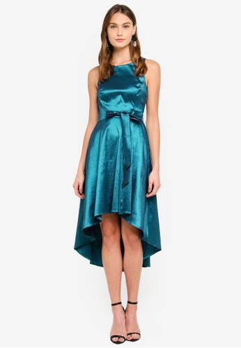 Goddiva blue High Low Sleeveless Tea Dress E5ABAAA51AE0D1GS_1