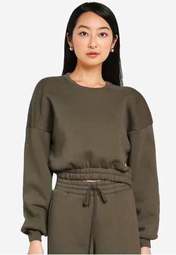 Noisy May green Percy Long Sleeves Cropped Sweatshirt 2B580AAB585370GS_1