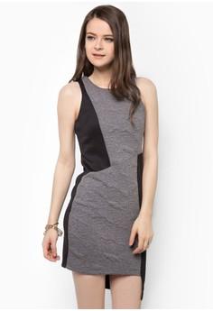 Cut In Asymmetric Hem Dress