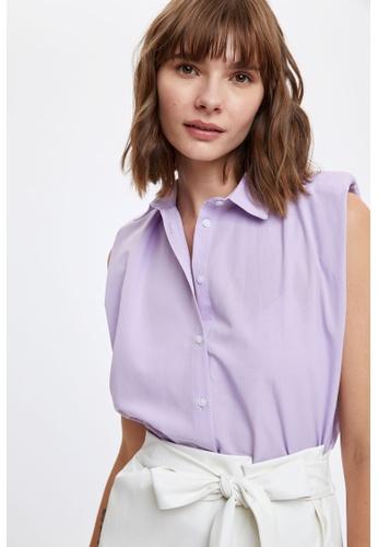 DeFacto purple Woman Woven Sleeveless Shirt 6184AAAFA6E56CGS_1