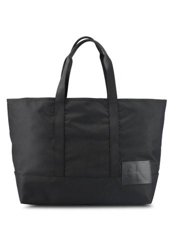 Calvin Klein black Carryall Tote - Calvin Klein Accessories 9657DACA494BA6GS_1