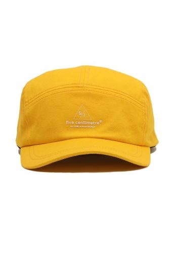 Fivecm yellow Logo drawcord cap CFBE4ACBD712D8GS_1