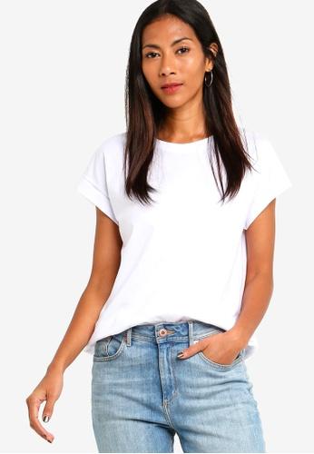 ZALORA BASICS white Basic Rolled Cap Sleeves T-Shirt D39E9AAA0475E5GS_1