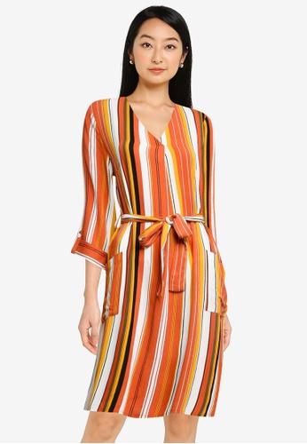 ZALORA BASICS multi Double Breasted Dress 65772AA1F6BA09GS_1