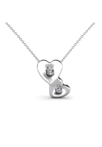 Her Jewellery silver Her Jewellery Double Love Pendant with Necklace Chain with 18K Gold Plated C5993ACE77A1A9GS_1