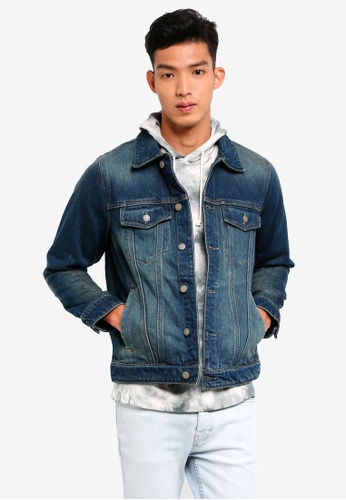 Abercrombie & Fitch blue Destroyed Denim Jacket DB165AA3766F97GS_1